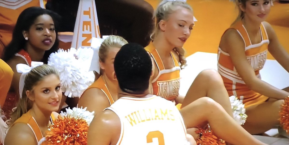 PHOTO: Tennessee Cheerleaders Looking At Grant Williams Like U Bae We Know U Getting That NBA Contract