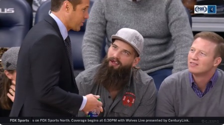 Brent Burns Missing Teeth Watching Kings Wolves Courtside