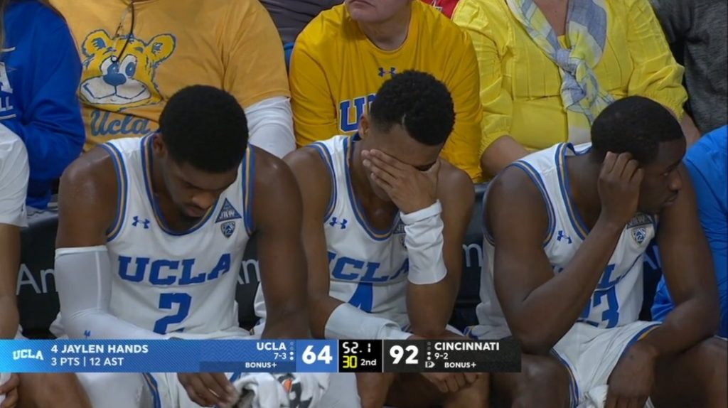 PHOTO UCLA Players Ignore Steve Alford To Pout And Cover Their Faces