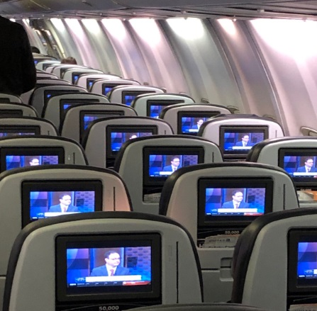 PHOTO Adrian Wojnarowski Being Shown On Every Screen Inside A United Airlines Flight