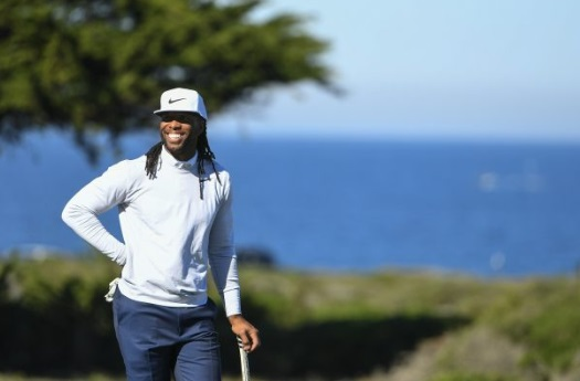 PHOTO Larry Fitzgerald Playing Golf With Barrack Obama In Florida