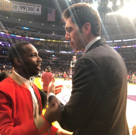PHOTO Rich Paul Asking Bob Myers If Kevin Durant Will Join The Lakers