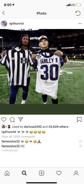 Todd Gurley Joked He Switched Jerseys With The Refs