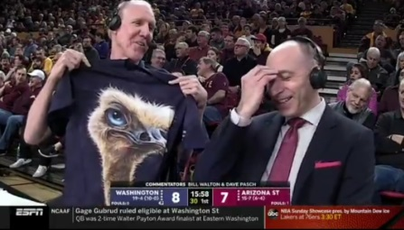 PHOTO Bill Walton Holding Up Shirt With TV Character On It