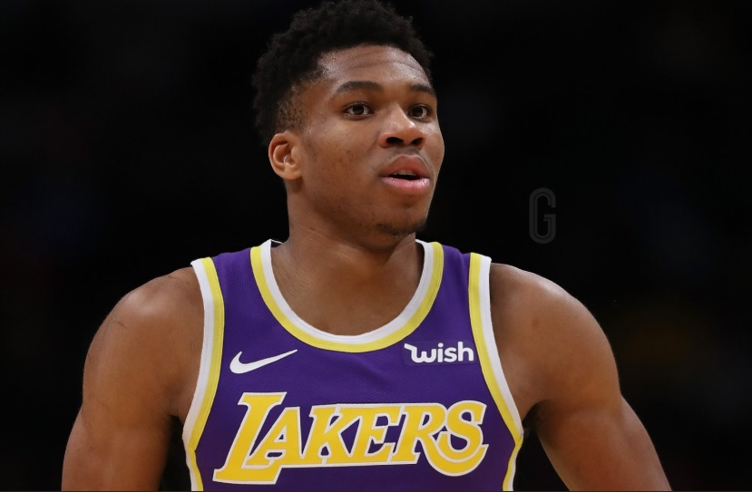 PHOTO Giannis Antetokounmpo In A Lakers Jersey