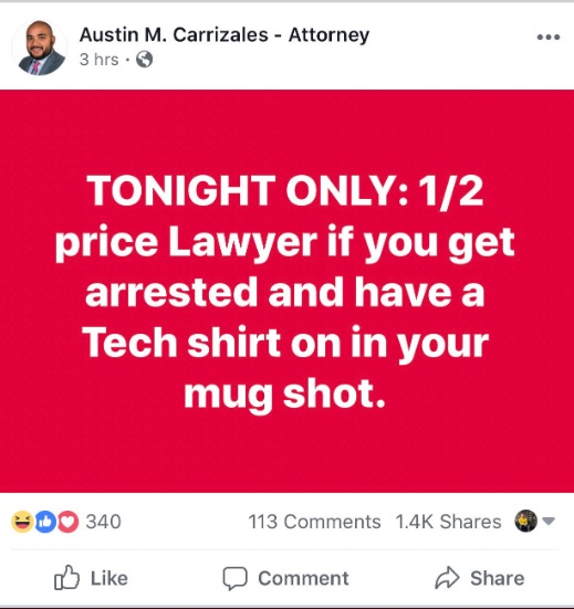 PHOTO Lawyer In Lubbock Offers 12 Price Of His Services If