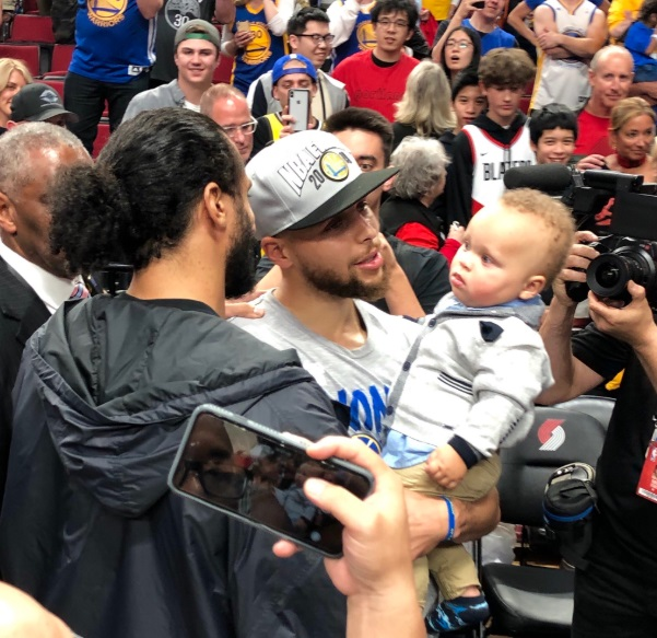 PHOTO Steph Curry's Son Trying To Figure Out What Is Happening After Warriors Win Series