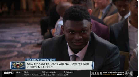 PHOTO Zion Williamson Smiling After Pelicans Win First Pick