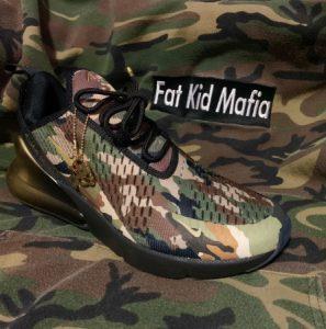 PHOTO Fat Kid Mafia Army Camoflague Nike Shoes