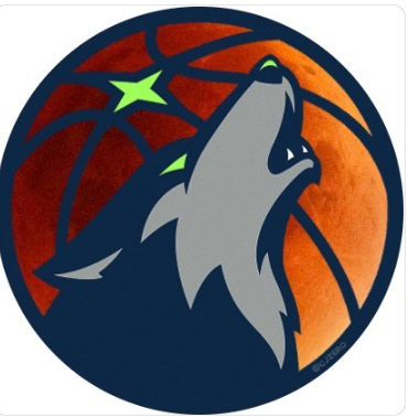 PHOTO Minnesota Timberwolves Super Wolf Blood Moon Logo