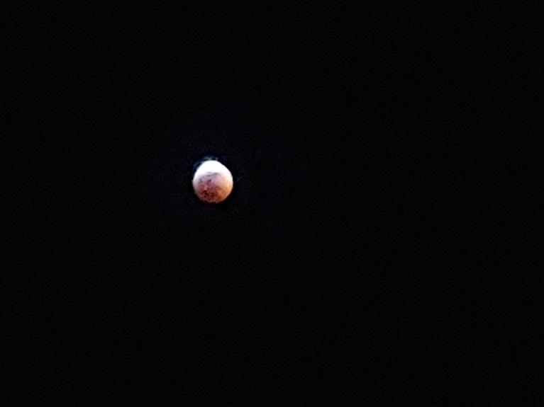 PHOTO The Moon Looks Like It's On Fire Tonight