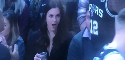 PHOTO Ugly Women At Spurs Game Flaunting Over LaMarcus Aldridge