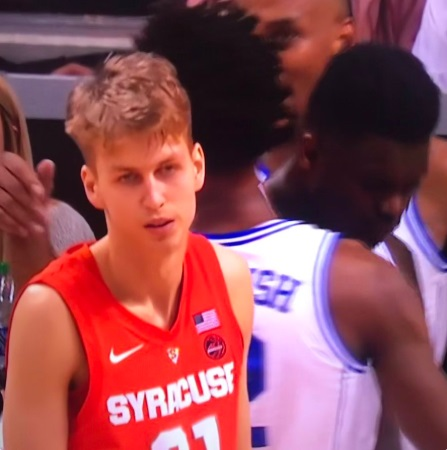 PHOTO Syracuse Player Looks Like Little Dejected Boy With Pouty Face After Getting Emasculated And Outright Abused By Zion Williamson