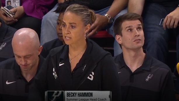 PHOTO Becky Hammon Looking Smoking Hot Hair In A Bun Coaching Spurs Summer League