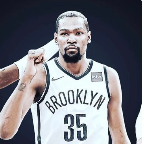 PHOTO Kevin Durant In A Brooklyn Nets Jersey