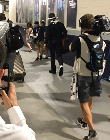 PHOTO Cam Newton Leaves Stadium In Walking Boot