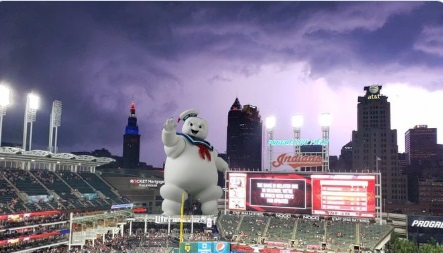 PHOTO Giant Inflatable Pillsbury Dough Boy Outside Cleveland Browns Stadium