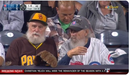 PHOTO Hatfields And McCoys At Cubs Padres Game