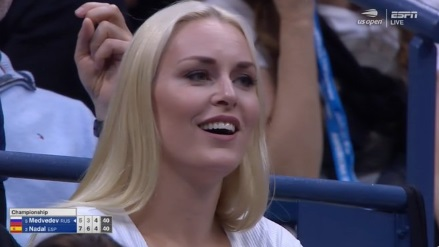 PHOTO Lindsey Vonn Looking Flawless At US Open With Crystal Blonde Hair