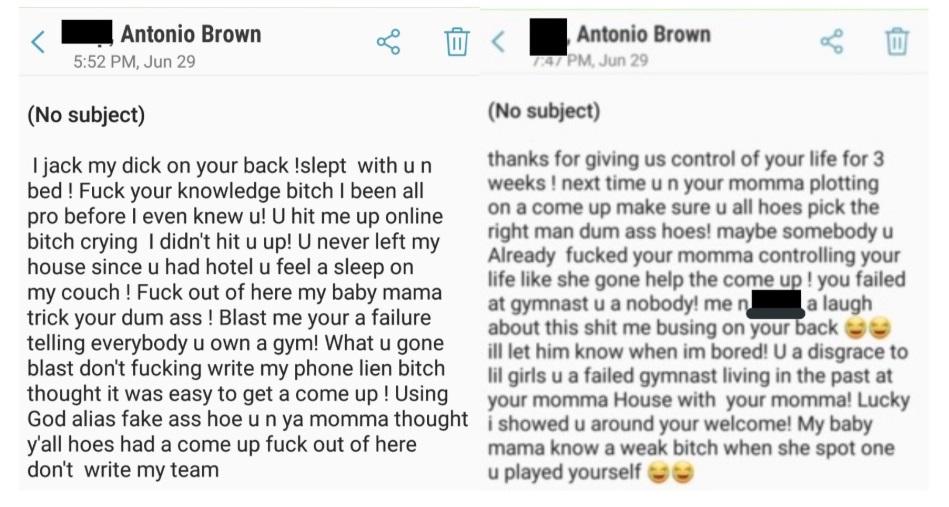 PHOTO Of Text Antonio Brown Sent To His Accuser