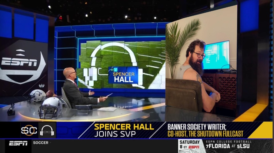 PHOTO Banner Society's Spencer Hall Joins Sportscenter From His Moms Basement