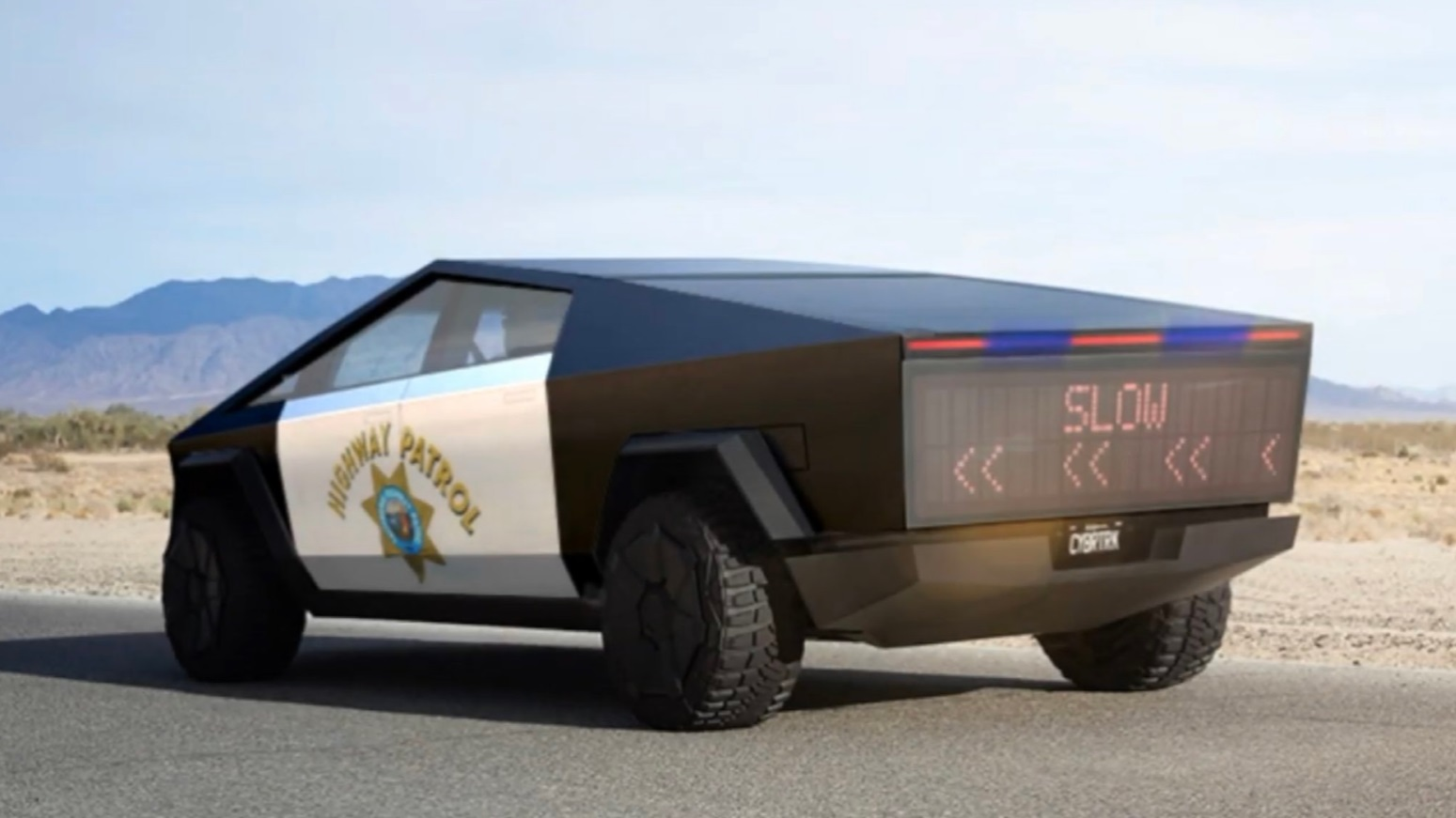 PHOTO California Highway Patrol Tesla Cybertruck With LED ...