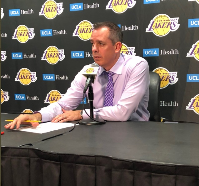 PHOTO Frank Vogel Falling Asleep During Lakers Post-Game Press Conference