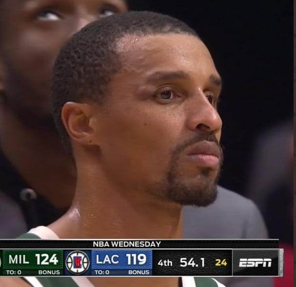 PHOTO George Hill's Swollen Bump On His Eye