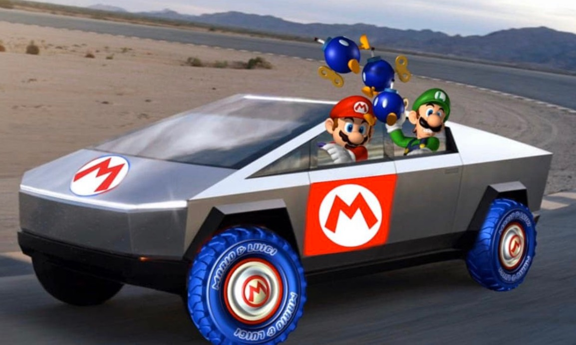 PHOTO Mario Kart Tesla Cybertruck