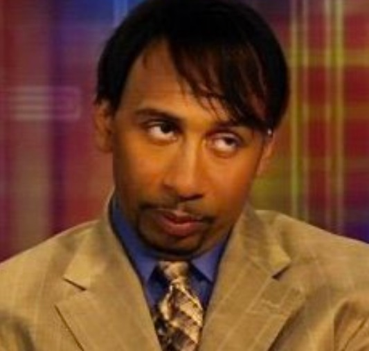 PHOTO Stephen A Smith Looking Like A Politican With Long Hair