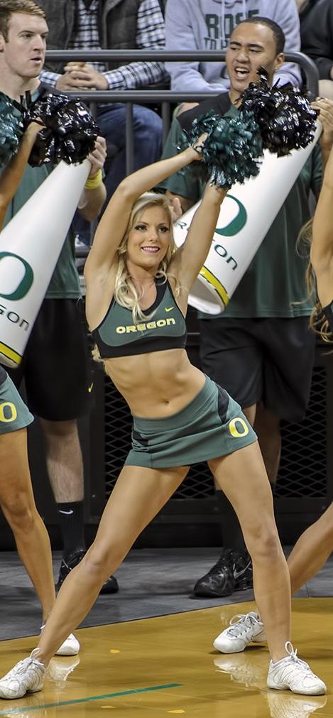 HD PHOTO Of Oregon Ducks Hottest Cheerleader
