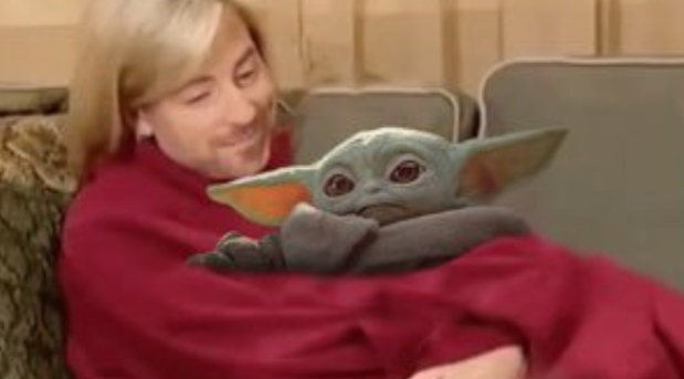 PHOTO Alex Gaskarth Holding Baby Yoda
