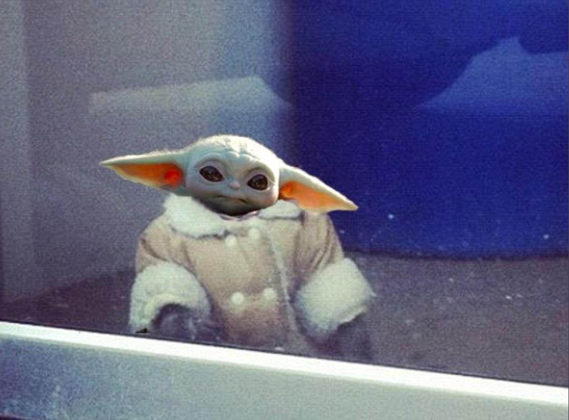 PHOTO Baby Yoda Gazing Out The Window