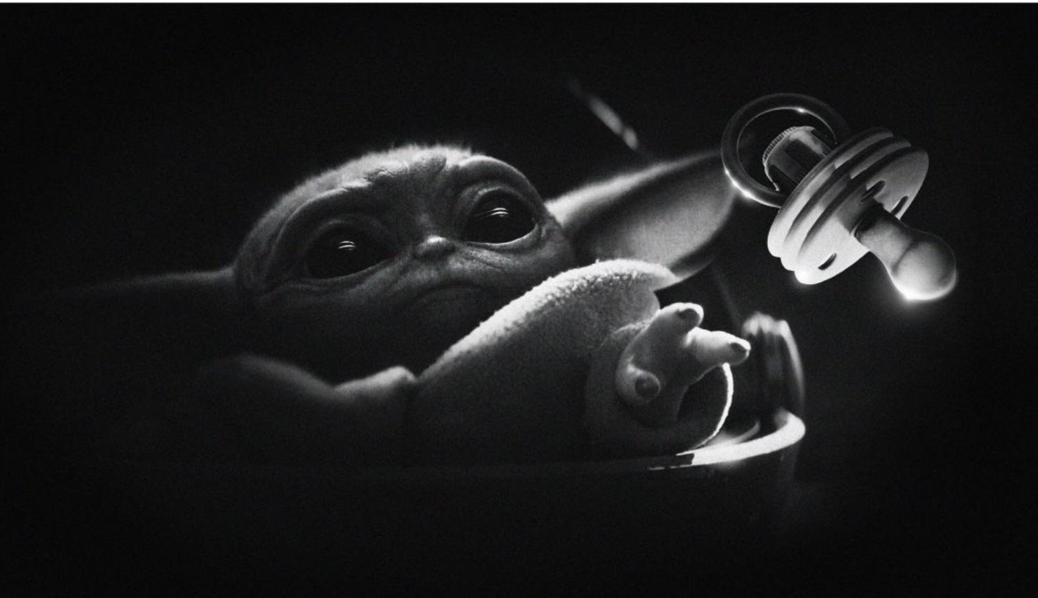 PHOTO Baby Yoda Grabbing Binky