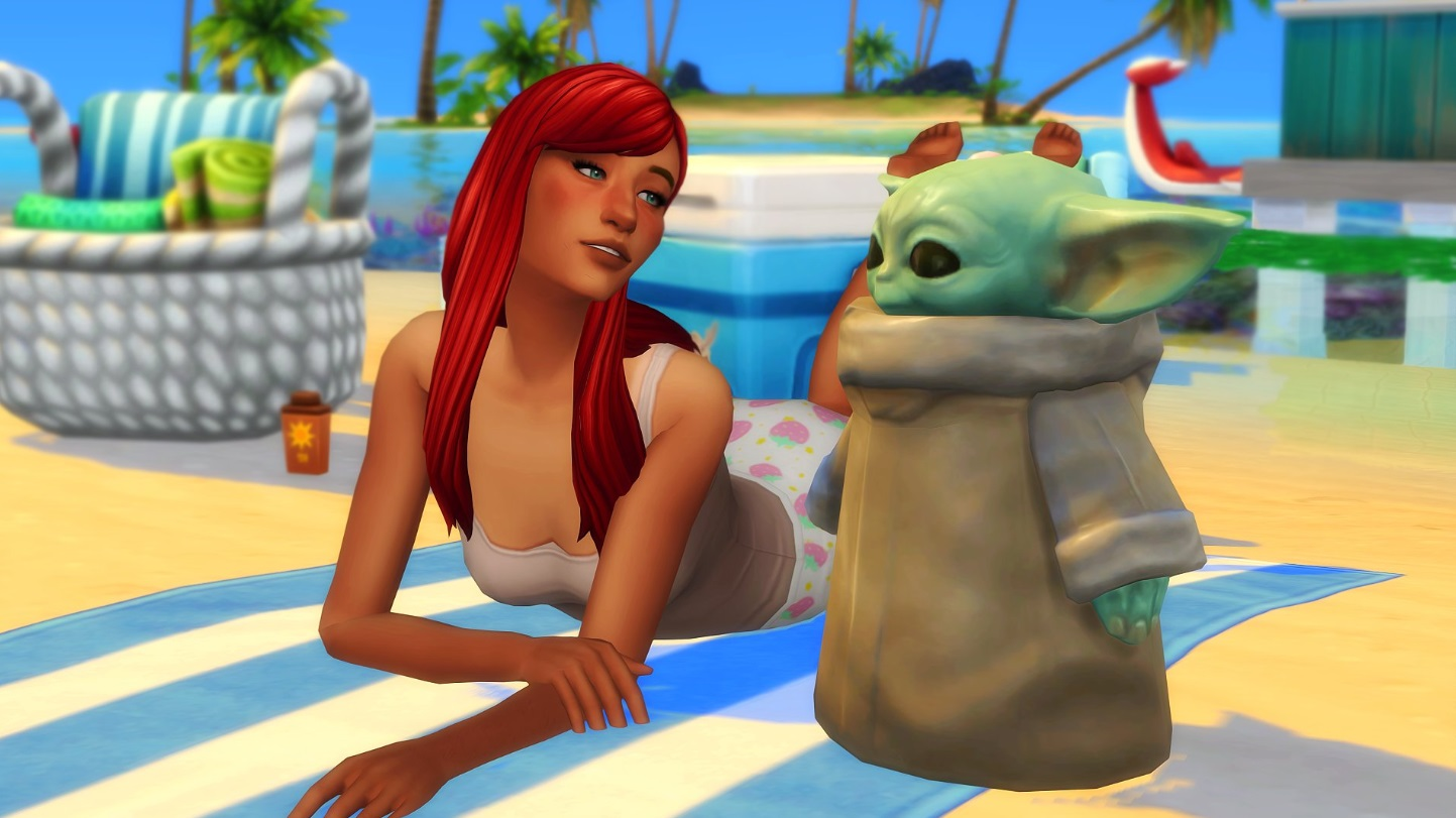 PHOTO Baby Yoda Has A Girlfriend In Sims 4