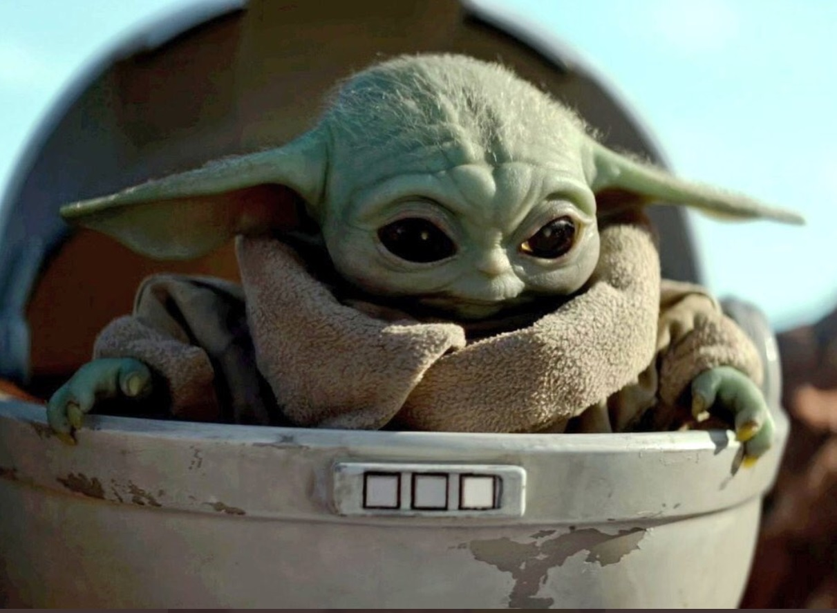 PHOTO Baby Yoda With A Big Smile