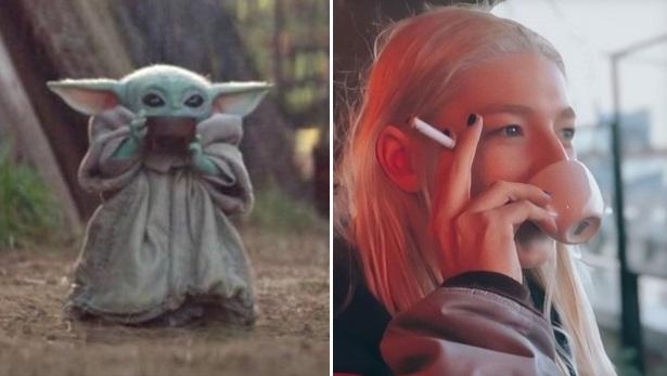 PHOTO Hunter Schafer As Baby Yoda