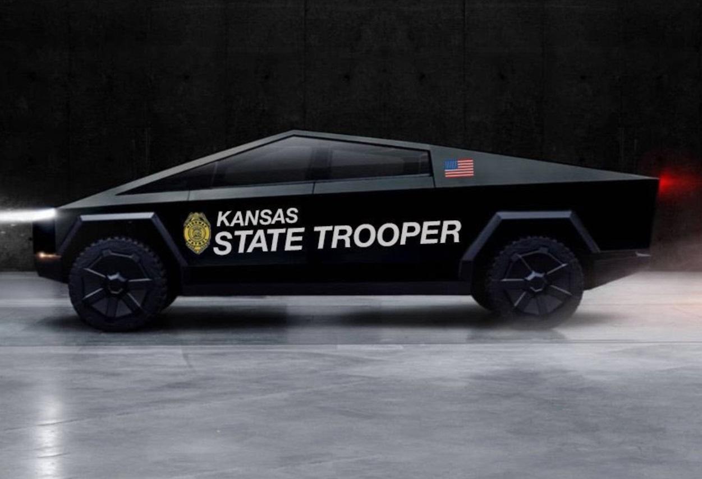 PHOTO Kansas State Trooper Tesla Cybertruck