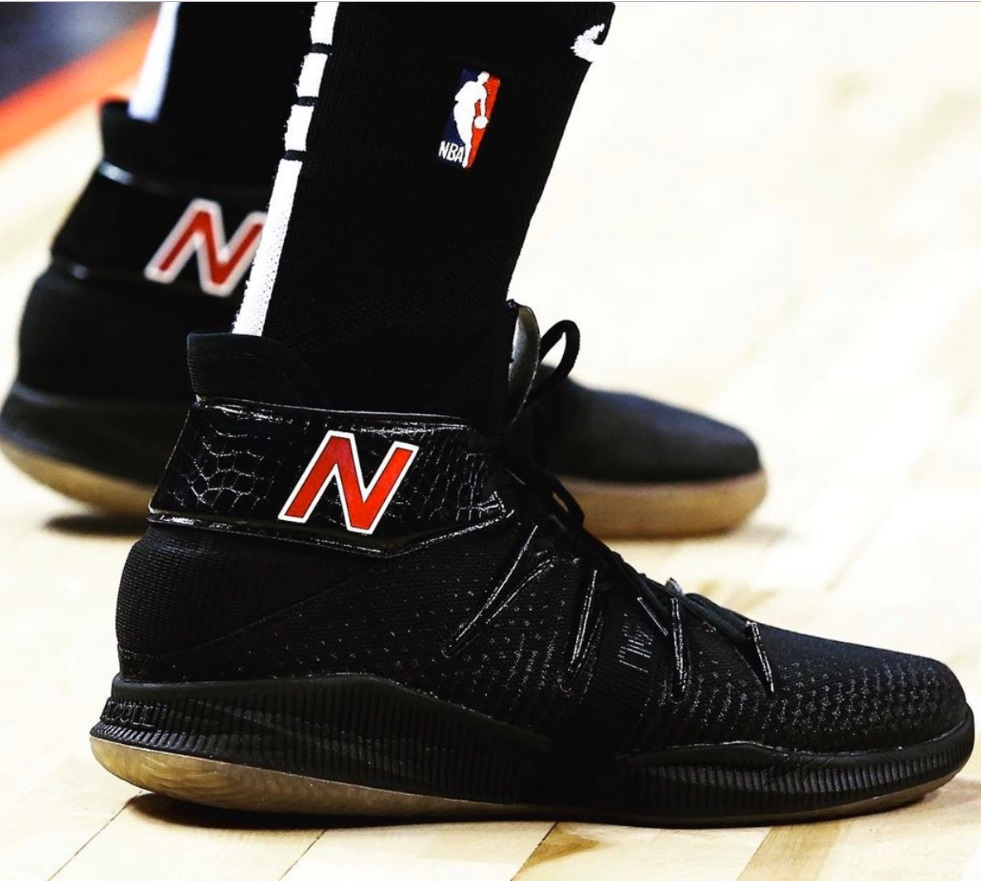 PHOTO Kawi Leonard's New Balance Black Shoes In Return To Orlando Were Glowing