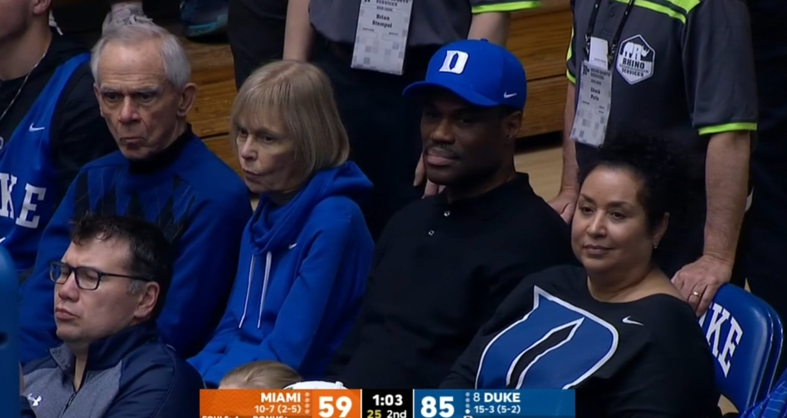 PHOTO David Robinson In Duke Hat At Miami Duke Game
