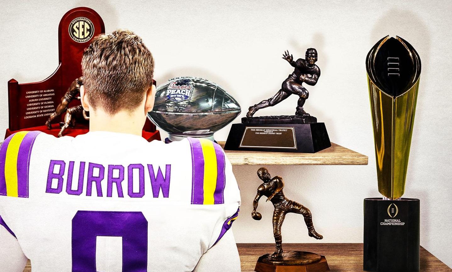 PHOTO Joe Burrow's Trophy Case Has A Lot Of Hardware In It
