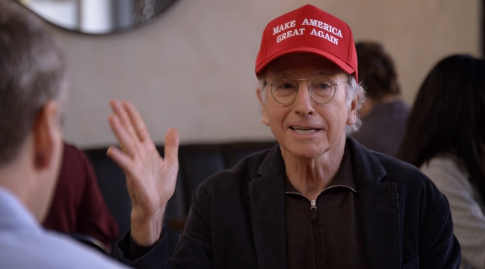 PHOTO Larry David Wearing A Make America Great Again Hat