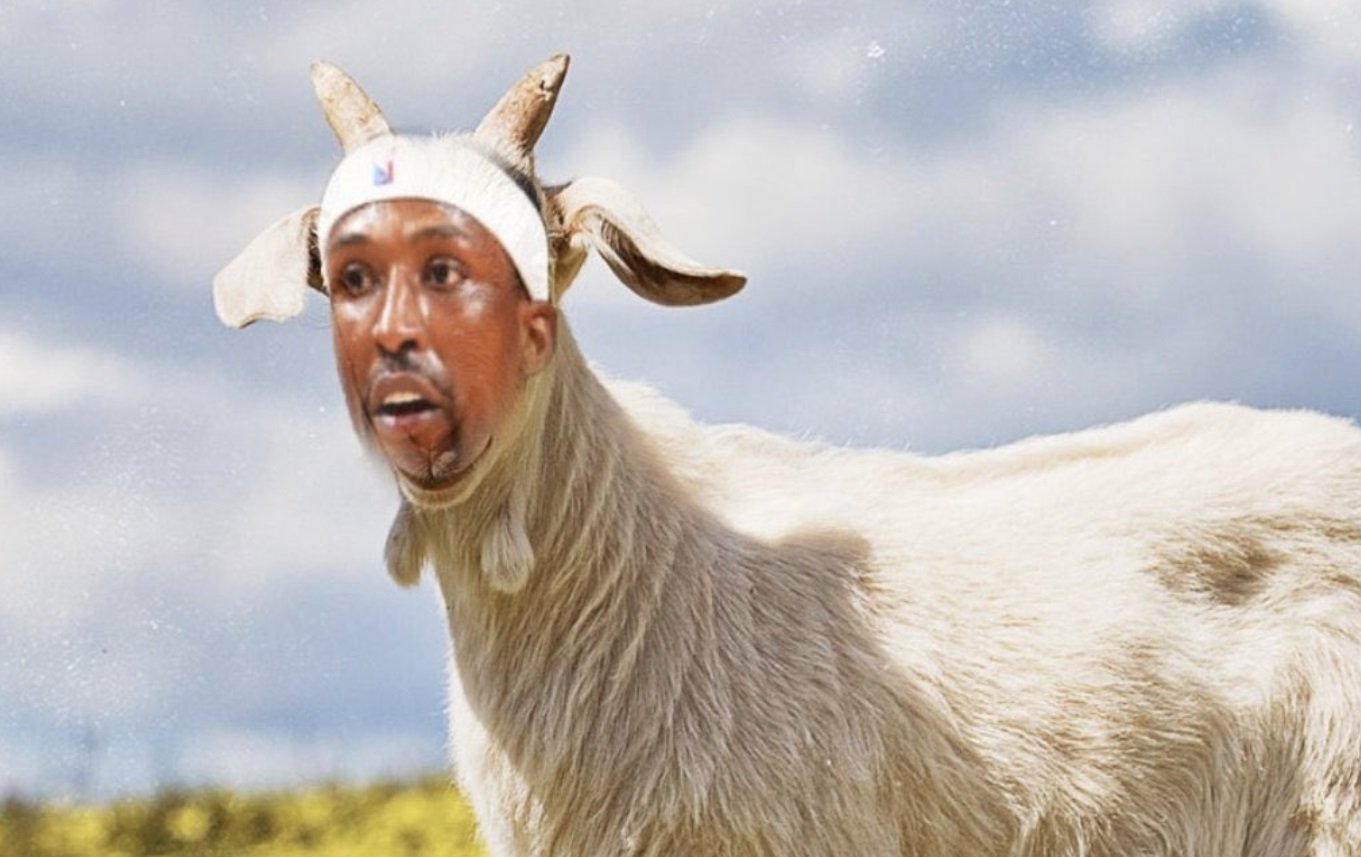 PHOTO Kentavious Caldwell Pope's Face On The Head Of A Goat