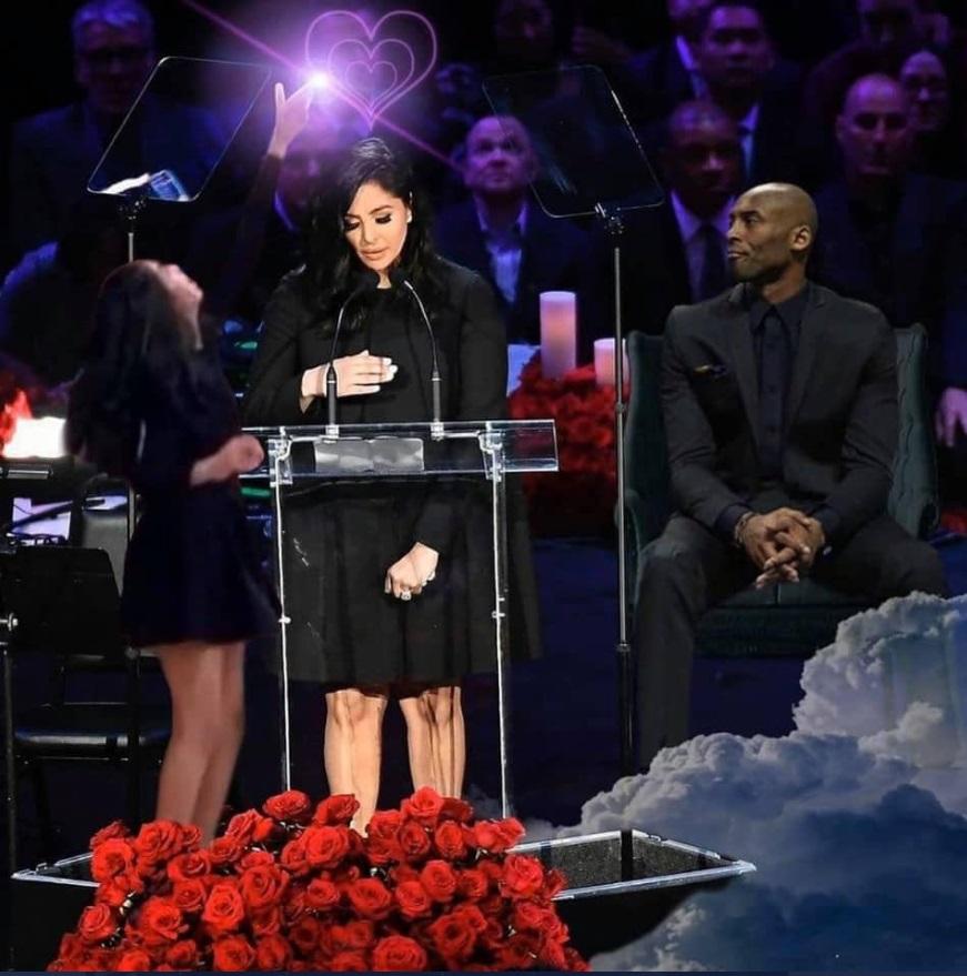 PHOTO Kobe And Gianna Photoshopped Into Memorial During Vanessa's Speech