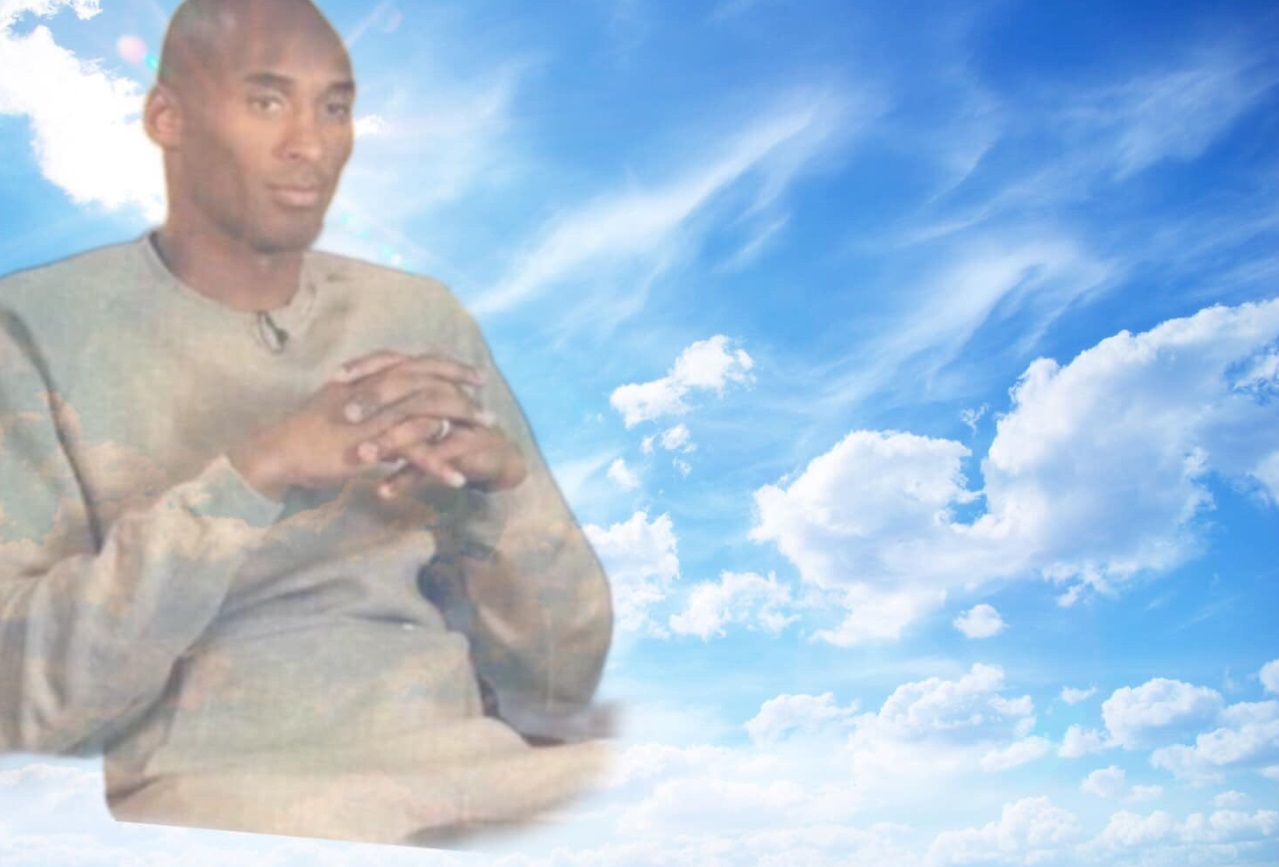 PHOTO Kobe Bryant In The Clouds With Hands Clasped Together