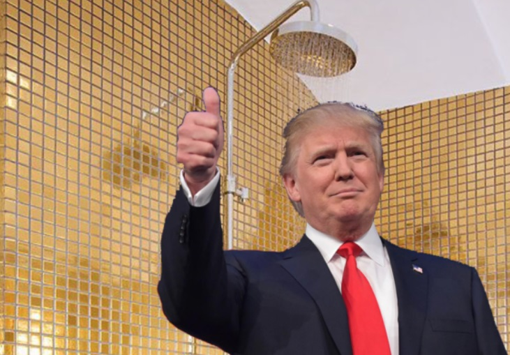 PHOTO Donald Trump Taking A Shower In A Golden Shower