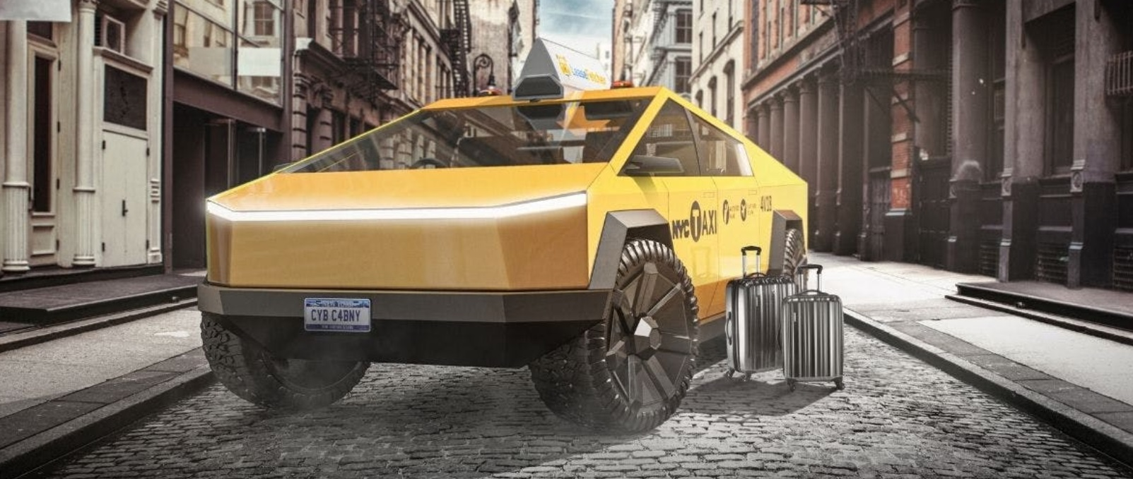 PHOTO Tesla Cybertruck New York City Taxi