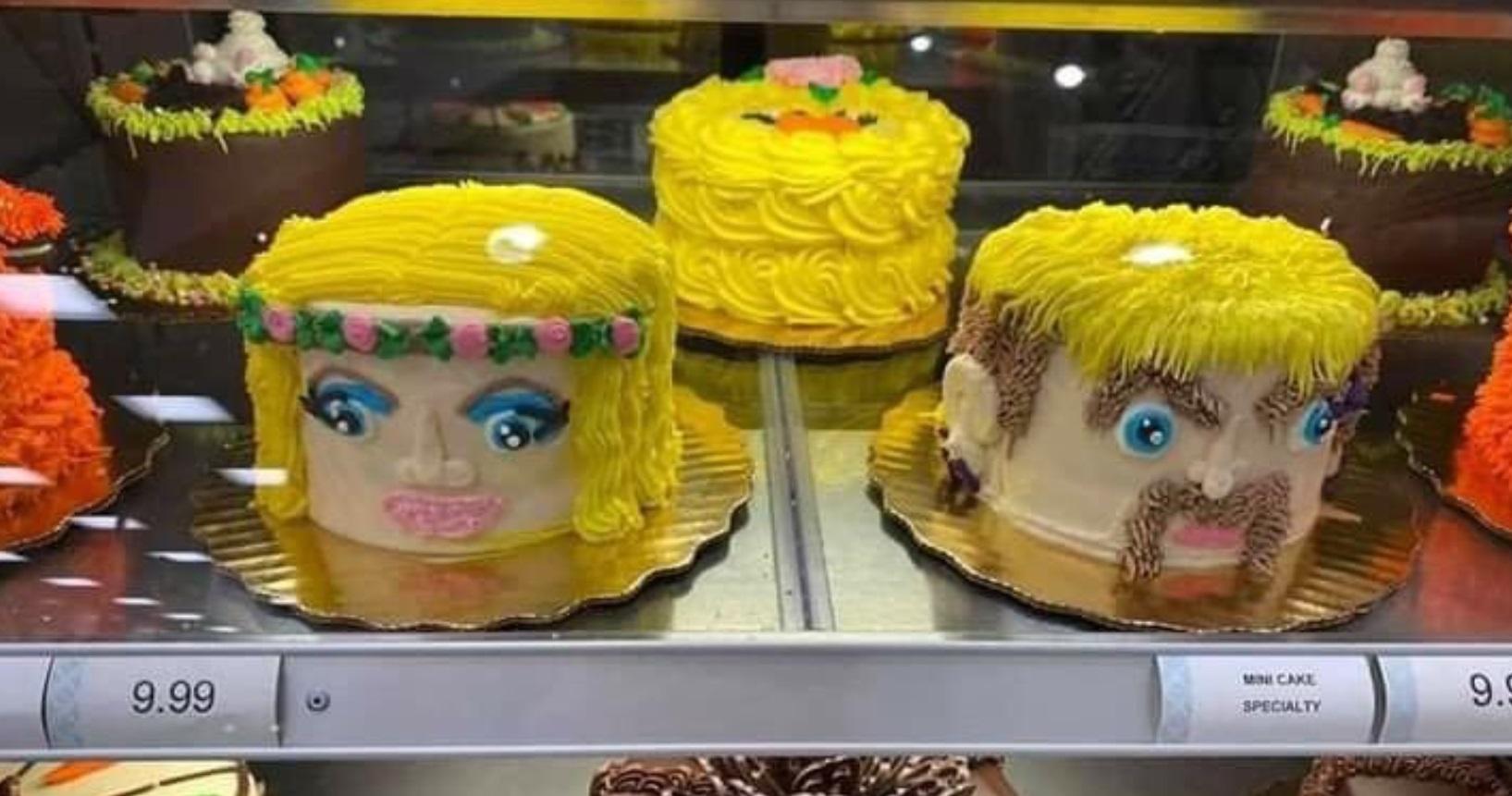 PHOTO Joe Exotic Carole Baskin Face Cake