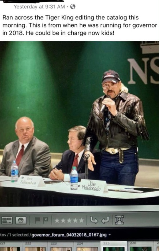 PHOTO Joe Exotic Speaking At A College