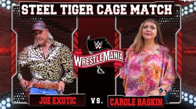 PHOTO Joe Exotic Vs Carole Baskin Wrestle Mania
